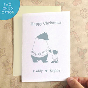 Personalised Bears In Jumpers Christmas Card