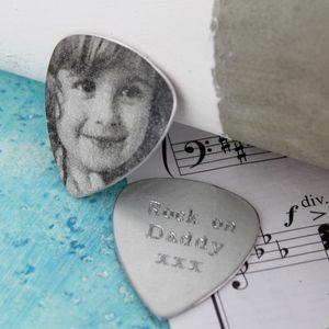 Personalised Photo Plectrum - men's accessories
