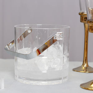 Tabletop Acrylic Ice Bucket With Tongs - wine coolers, ice buckets & trays