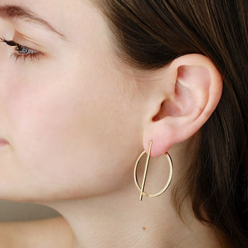 Jenna Circle Two Way Earrings