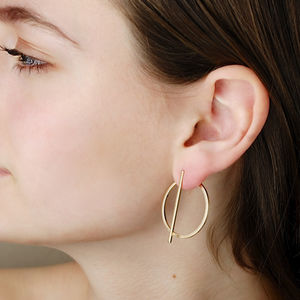 Jenna Circle Two Way Earrings - statement earrings