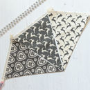 Grey Scandi Reindeer And Heart Bunting
