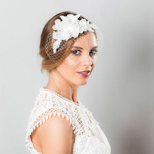 Olivia Bird Cage Veil - wedding fashion