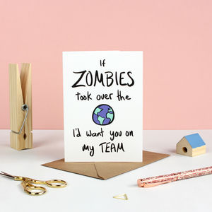 If Zombies Attacked Greetings Card - winter sale