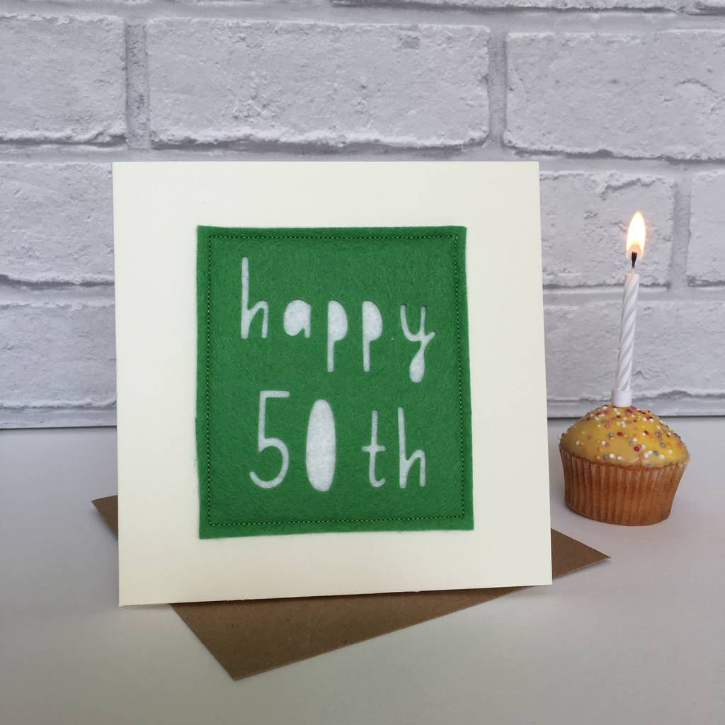 Happy 50th Birthday Milestone Card