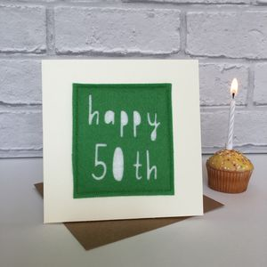 Happy 50th Birthday Milestone Card - birthday cards