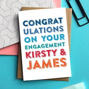 Congratulations On Your Engagement Personalised Card - engagement cards