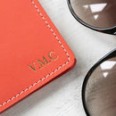Personalised Leather Passport Case