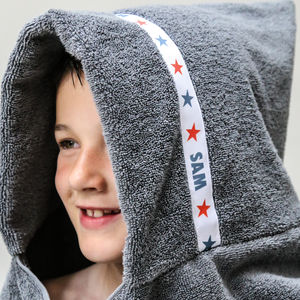 Personalised Stars Hooded Towel