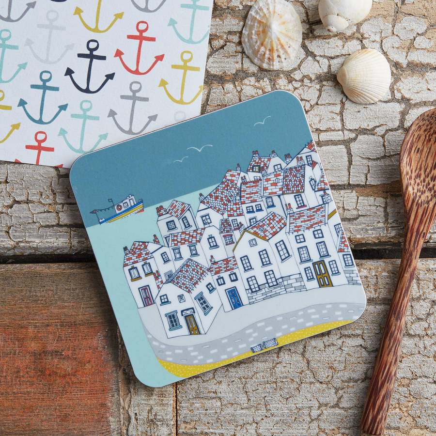 Coastal Village Melamine Coaster