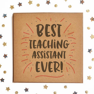 Best Teaching Assistant Ever Square Card