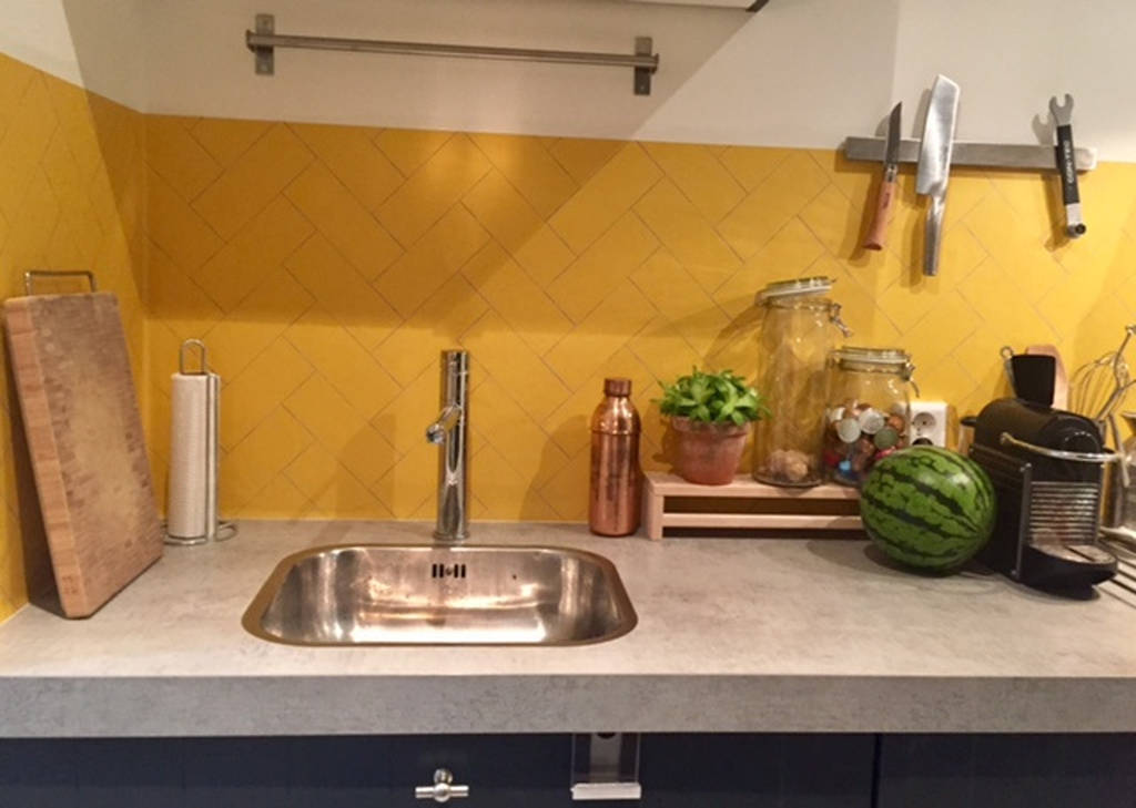 herringbone kitchen walls backsplash wallpaper by lime lace rh notonthehighstreet com
