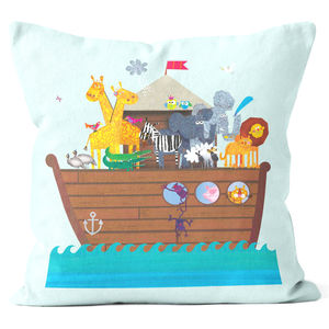 Noah's Ark Cushion - bedroom