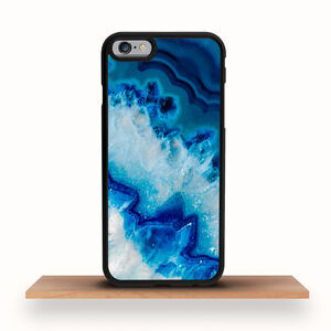 iPhone Case Blue Agate Geode