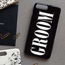 Glossy Black Groom Phone Case