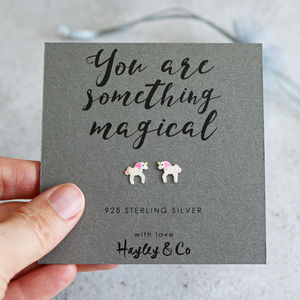 Magical Unicorn Sterling Silver Earrings - earrings