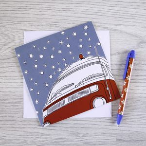 Campervan Christmas Card 'Snowed In'