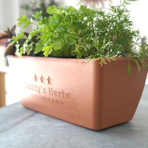 Engraved Message Herb Planter - personalised gifts