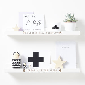 Personalised Unicorn Shelf - gifts for babies