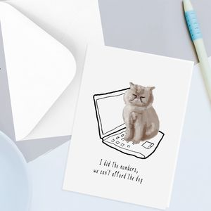 Funny Cat Greetings Card