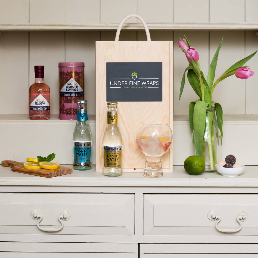 Rhubarb Gin And Tonic Gift Box