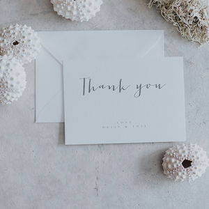 Amour Thank You Cards - thank you cards