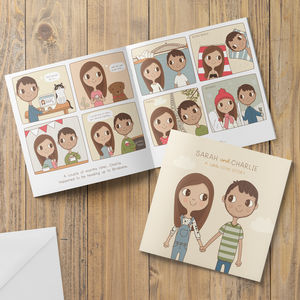 Love Story Wedding Invitation Booklet - invitations