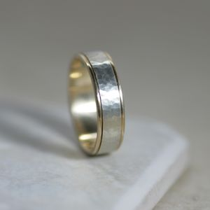 Two Tone Gold Wedding Ring - rings