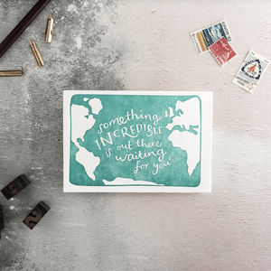 Something Incredible Is Out There Letterpress Card - leaving cards