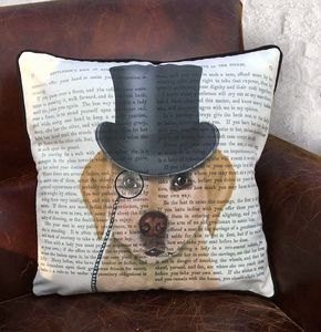Yellow Labrador Cushion, Formal Dog Collection - what's new