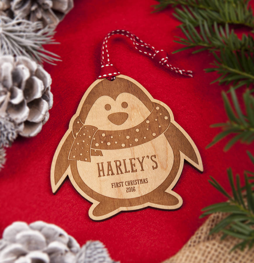 Baby 39 s first christmas decoration by aliroo for Babys first christmas decoration