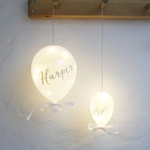 Personalised Name Hanging LED Pearlescent Balloon Light - personalised gifts