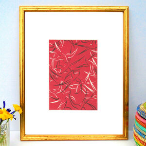 Red Birds Japanese Woodblock Print