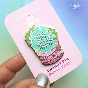 Bad Witch Wizard Of Oz Inspired Crystal Ball Pin