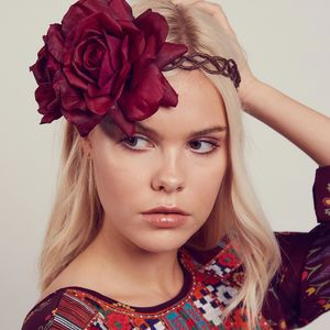 Arabella Floral Crown Fascinator Headband - hair accessories