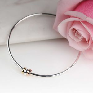 Solid Silver 'Harmony Beads' Bangle - necklaces & pendants