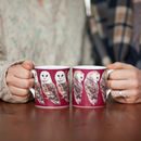 Pair Of Bone China Barn Owl Mugs