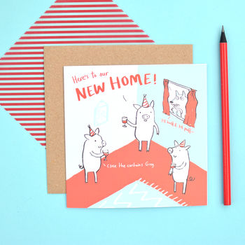 'New Home' Greeting Card