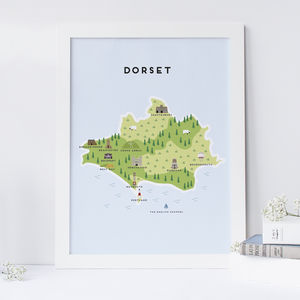 Map Of Dorset - new in prints & art