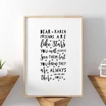 Friends Are Like Stars Friendship Print