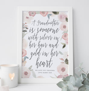 Personalised Grandmother Gift - family & home