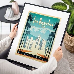 Los Angeles, California Travel Print