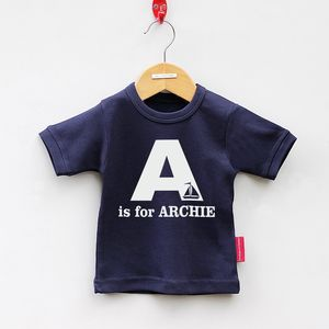 Personalised Alphabet Short Sleeved T Shirt