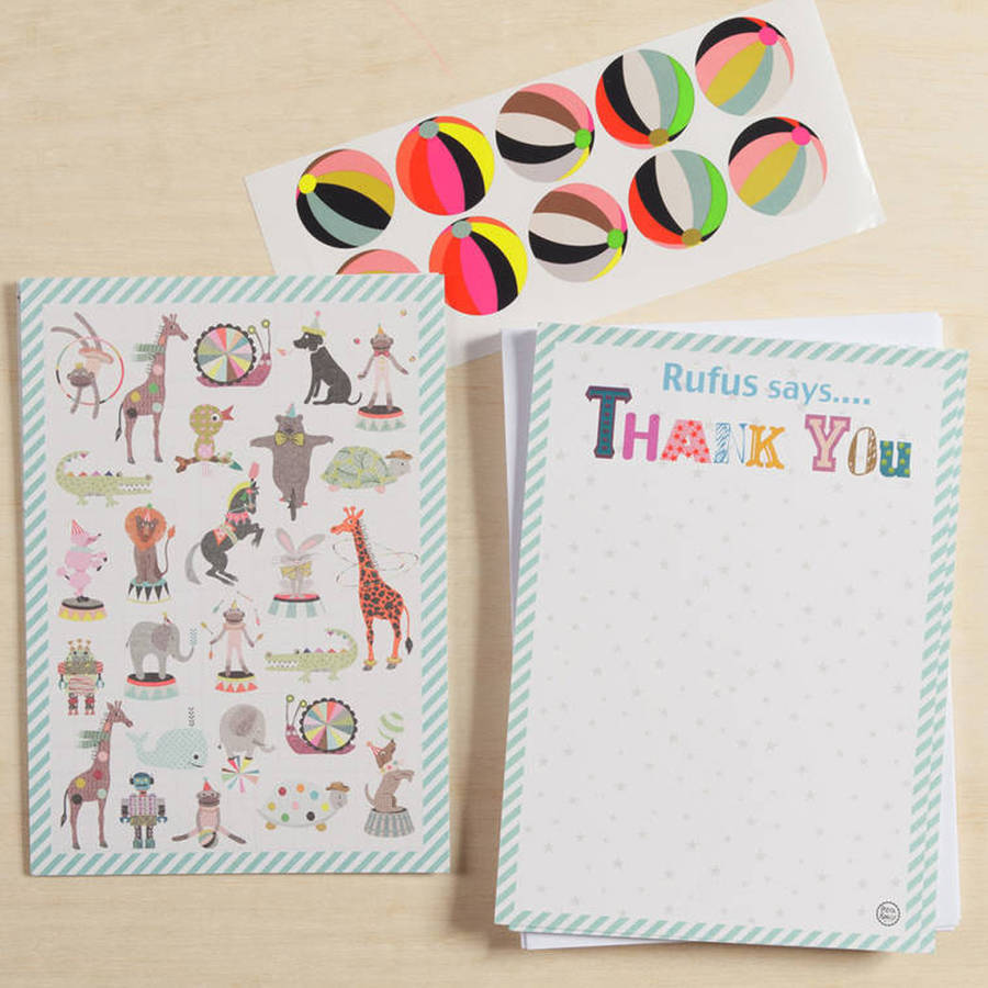 Petra boase Ltd 12 Child's Thank You Cards