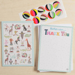12 Child's Thank You Cards - personalised gifts