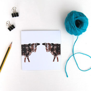 Pair Of Dairy Shorthorn Greetings Card