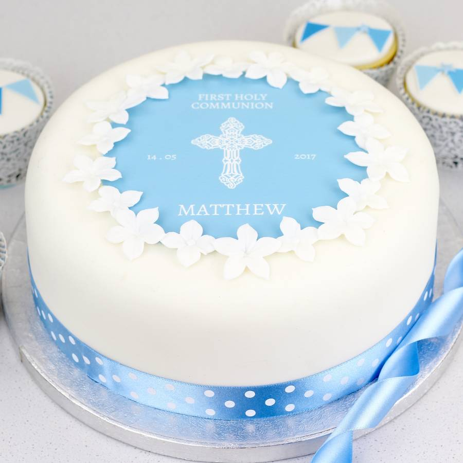 personalised christening cake or baptism cake topper by ...