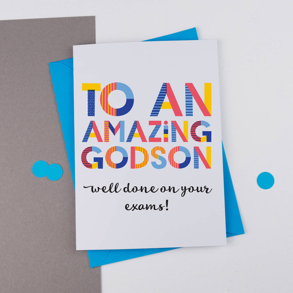 Amazing Godson Personalised Card By A Is For Alphabet