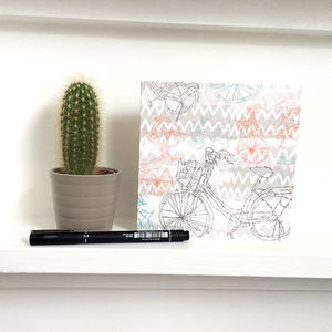 Bikes Greeting Card Square