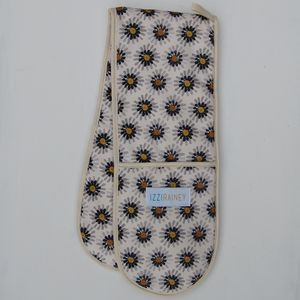 Mustard Daisy Oven Gloves - kitchen accessories